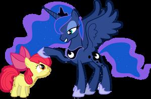 Princess Luna and AB - Like Yourself by CaliAzian