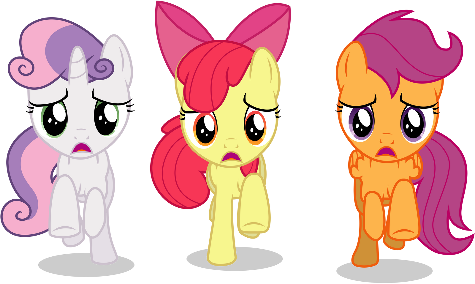 Cmc Running Away By Caliazian On Deviantart Now we're on a mission to help ponies discover theirs! cmc running away by caliazian on