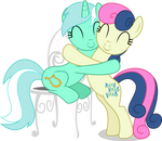 Lyra and Bon Bon - Hugging