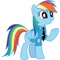 Rainbow Dash - Dress Uniform by CaliAzian