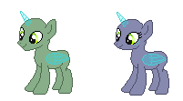 Pixel Doll Pony Base #1 by J-J-Bases