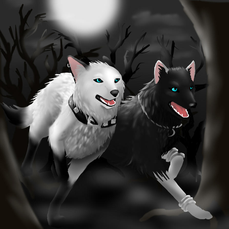 Wolf Sisters Speed Paint By Deathdragon0593 On