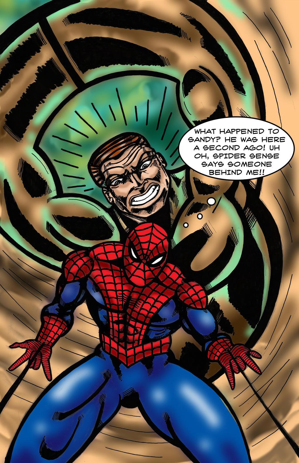 Spider-Man vs. Sandman by Dreamfires on DeviantArt
