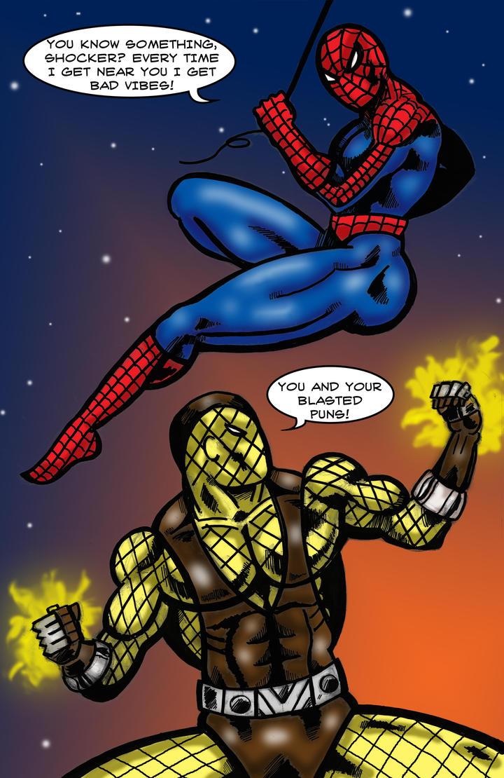 Spider-Man vs. Shocker by Dreamfires on DeviantArt
