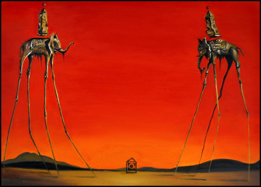 Salvador Dali Elephant Wallpaper