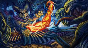 Lasker's Flame Lash by KahzeArt