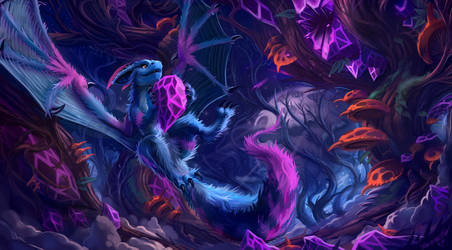 The Amethyst Woods by KahzeArt