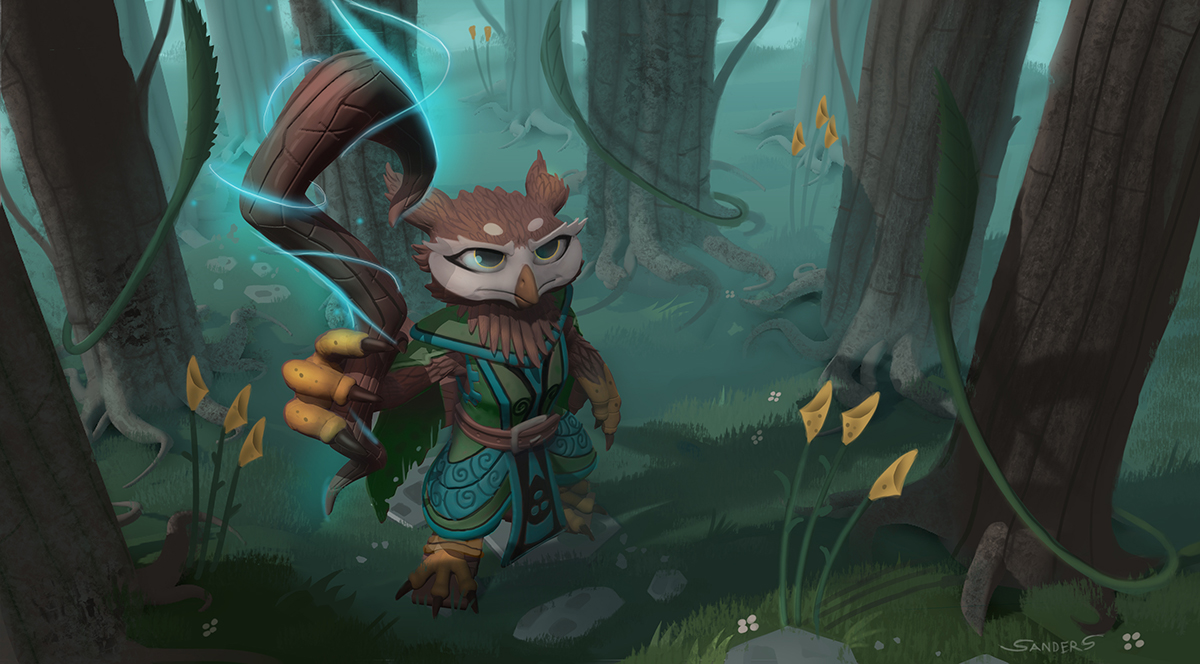 Wizard in the Woods by KahzeArt