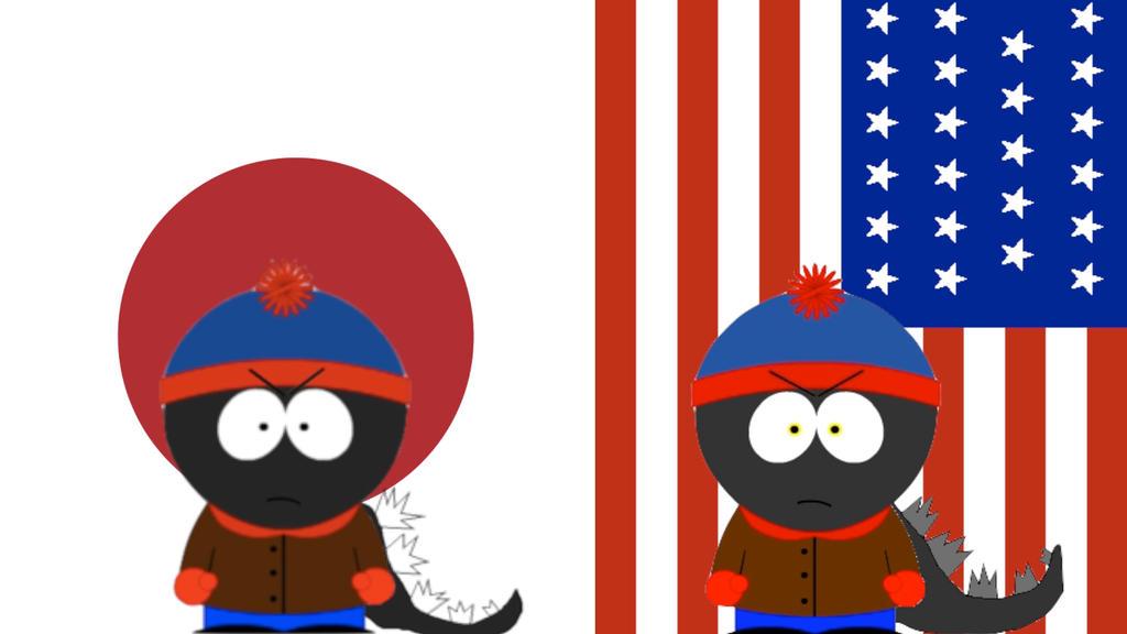 South Park and Godzilla: Japanese vs American by SP-Goji-Fan on