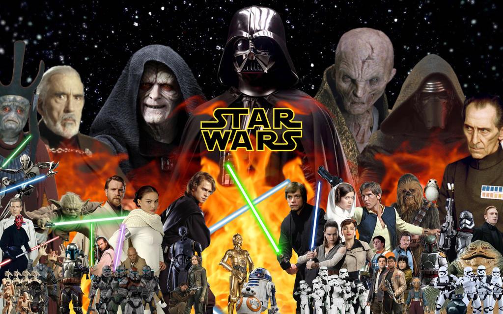 star wars complete saga wallpaperspgojifan on deviantart