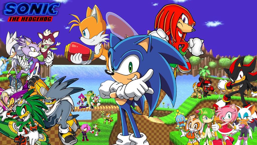 Sonic The Hedgehog Custom Wallpaper Heroes By Sp Goji Fan On Deviantart