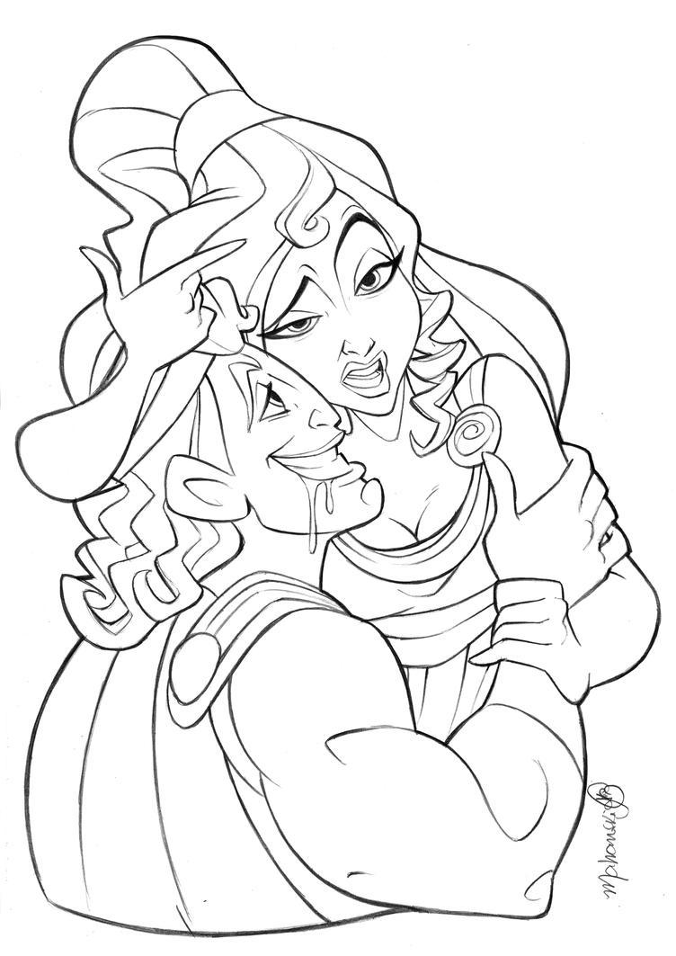 Megara e Hercules by andersonmahanski
