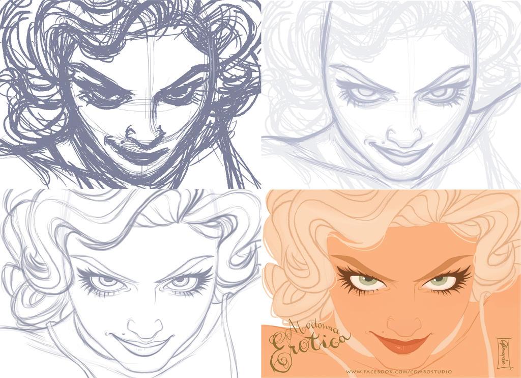 Madonna Erotica Process by andersonmahanski