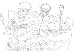 Naruto - 434 Puppeteer Lineart