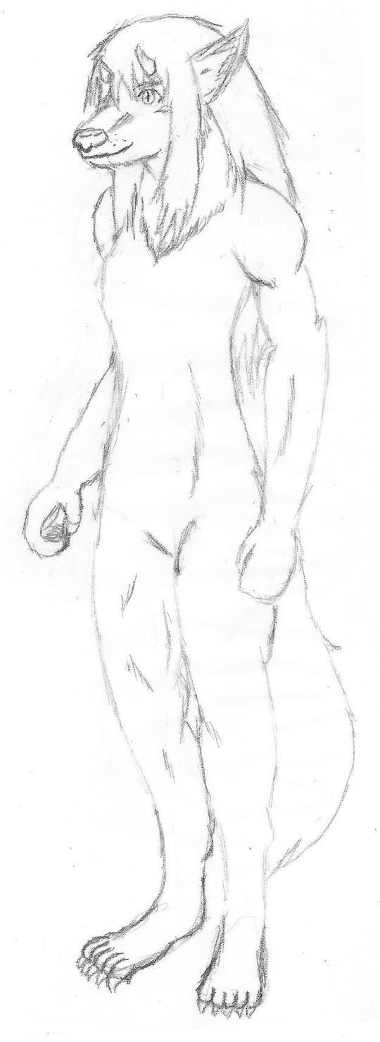Yukimura Chizuru - garou form by BloodofCerberus