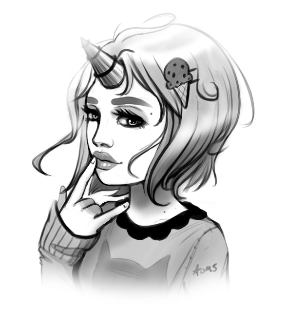 Mint bust  sketch by Oh-My-Stars