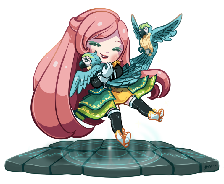 Odessa and Her Macaws by Oh-My-Stars