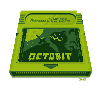 #Octobit Day 1 - Gameboy by Oh-My-Stars