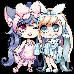 Aurora and Ariana by Oh-My-Stars