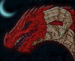 Dragon in the night by SkyFox-Flight305