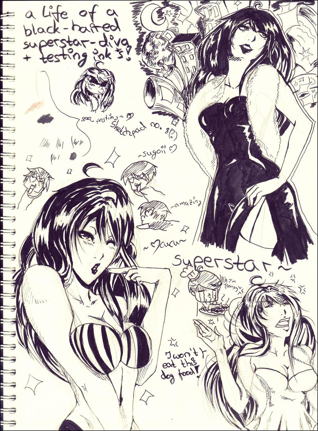 Sketch dump: A Superstar's Life by IStealYourCookiesx3
