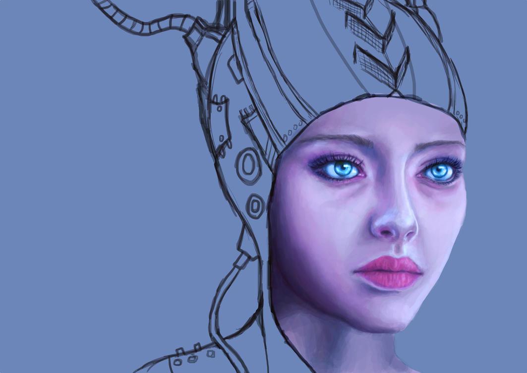 Scifi portrait WIP (Amanda Seyfried) by eev11
