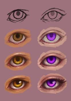 Step-by-step Eyes