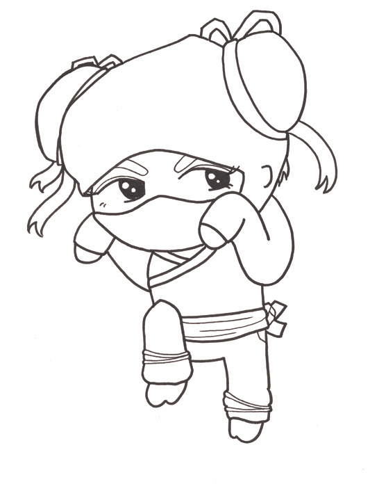 ninja coloring pages for girls - photo#22