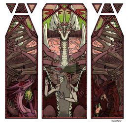 Stained Glass Grand Mural - Necromancers