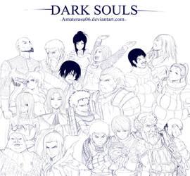 Dark Souls-Warriors from Londran by EvilDei