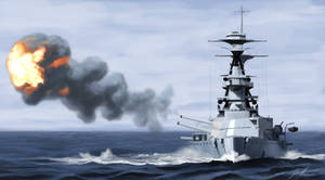 HMS Ramillies by Helgezone