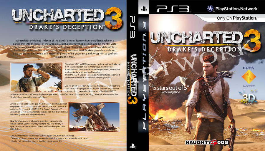 Custom Uncharted 3 Boxcover By Battin On Deviantart