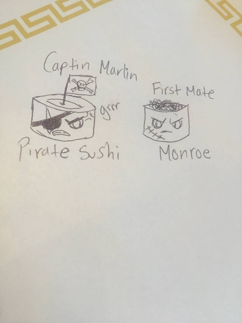 Pirate Sushi Pen Sketch by Gothfoxgirl on DeviantArt