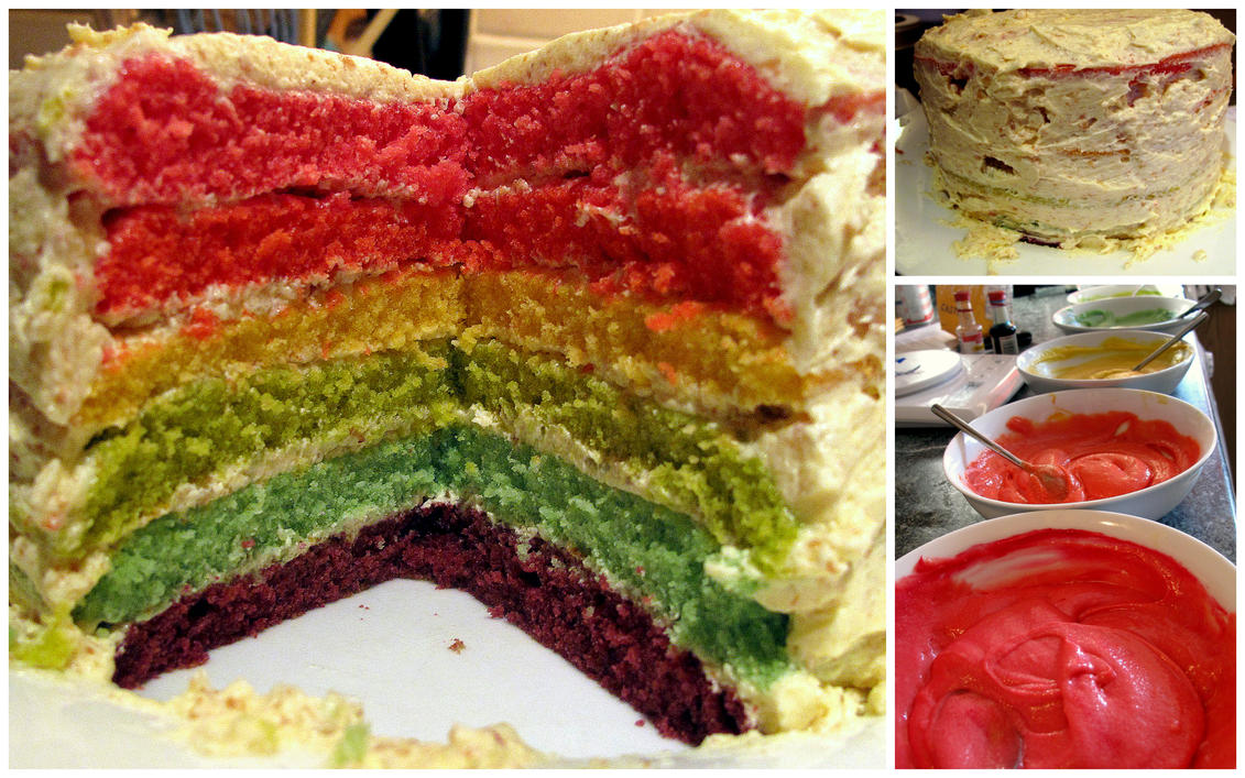 Art Cake And Co : Rainbow Cake and Co. by carostar680 on DeviantArt