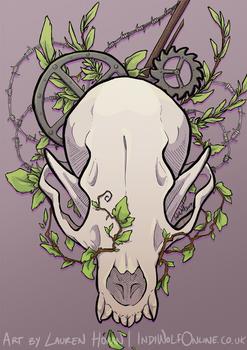 Ratchet - Mixed Media Illustration