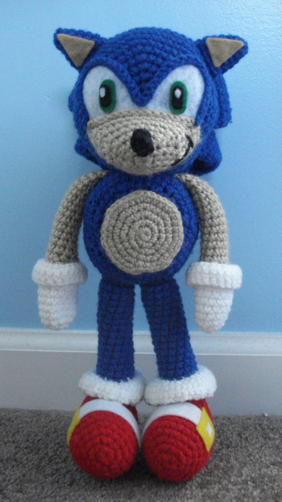 Amigurumi Hedgehog : sonic the hedgehog amigurumi by TheArtisansNook on DeviantArt