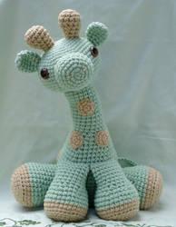 large amigurumi giraffe