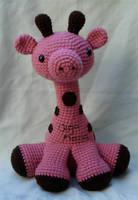 pink amigurumi giraffe by TheArtisansNook
