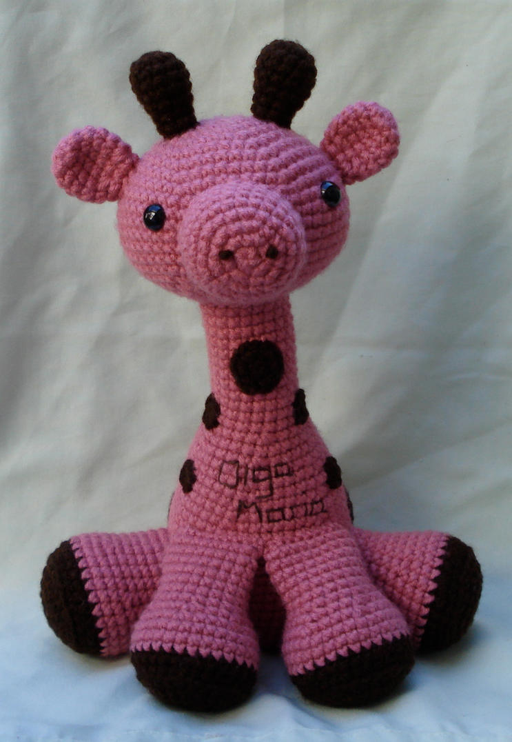 Free Crochet Patterns Giraffe : pink amigurumi giraffe by TheArtisansNook on DeviantArt