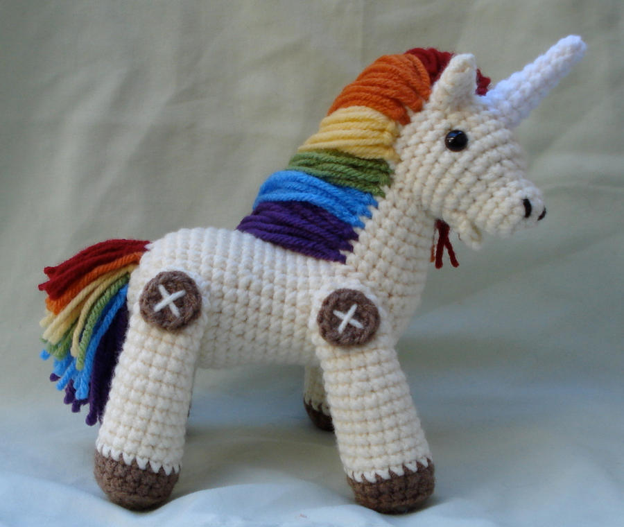 Crochet Unicorn : rainbow unicorn amigurumi 2 by TheArtisansNook on DeviantArt