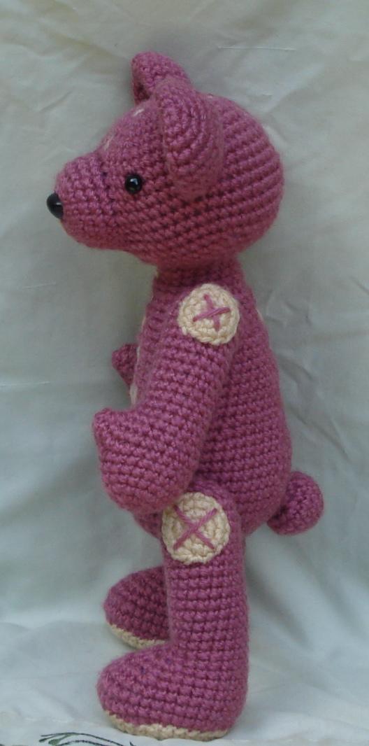 Amigurumi Pink Bear : pink bear amigurumi 3 by TheArtisansNook on deviantART