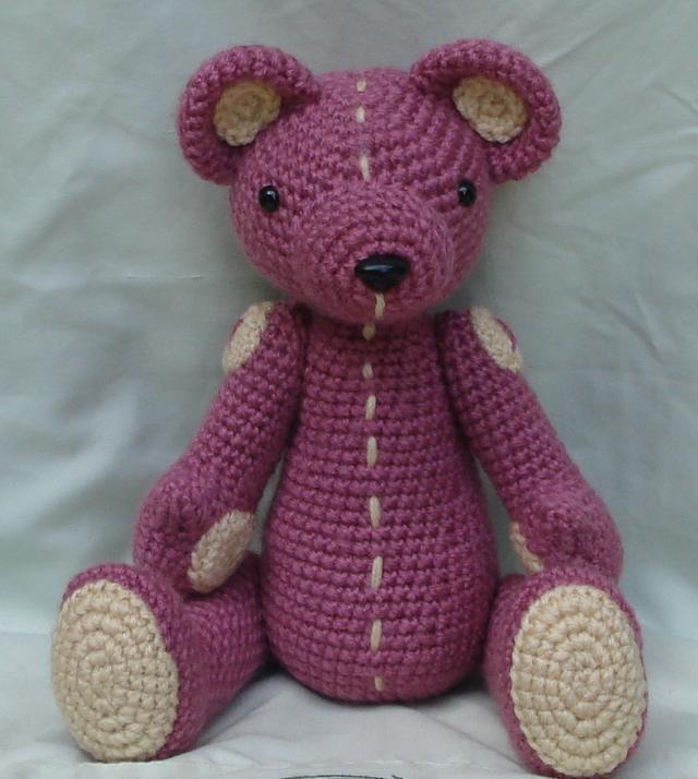 Amigurumi Pink Bear : pink bear amigurumi 5 by TheArtisansNook on deviantART