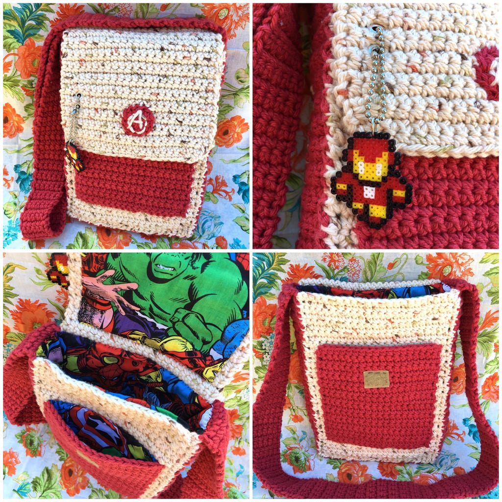 Iron Man Messenger Bag by TheArtisansNook