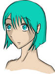 Odd hair color girl