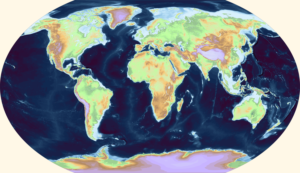 World Topography And Bathymetry By Ashtagon On DeviantArt - World topography