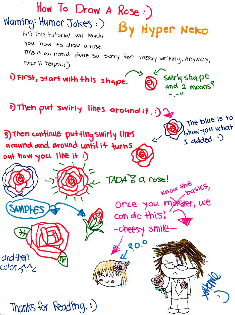 How to Draw A Rose by xiiTErRie