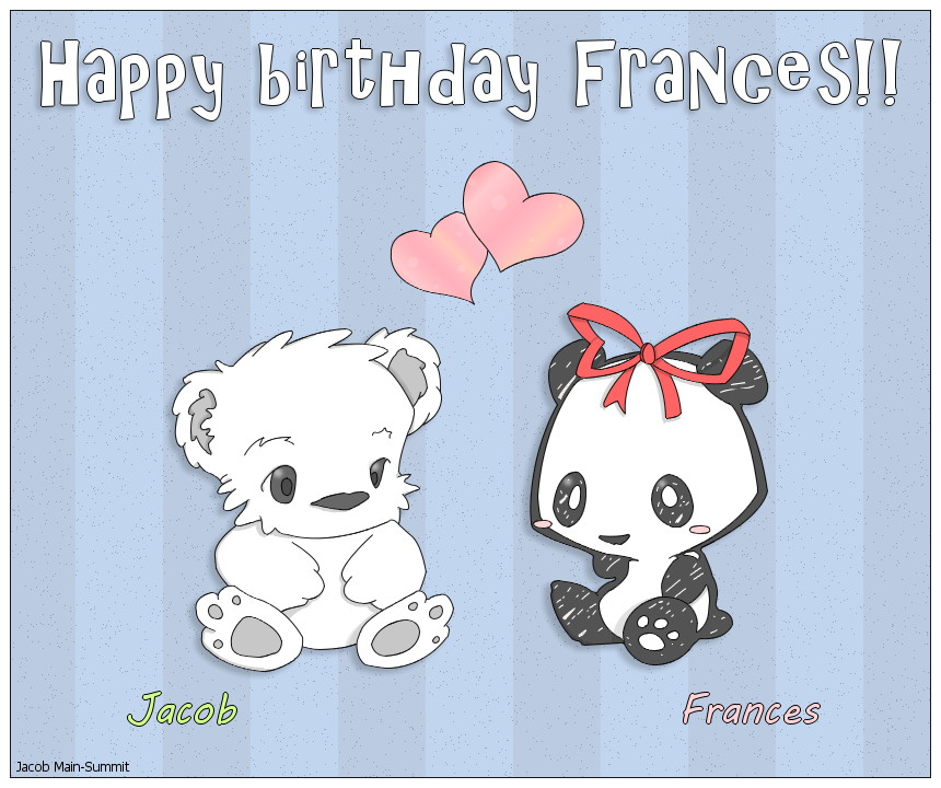 Happy birthday dear Frances!! by JacobMainland