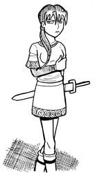 Girl Larkspur by Dick-Kittenheart