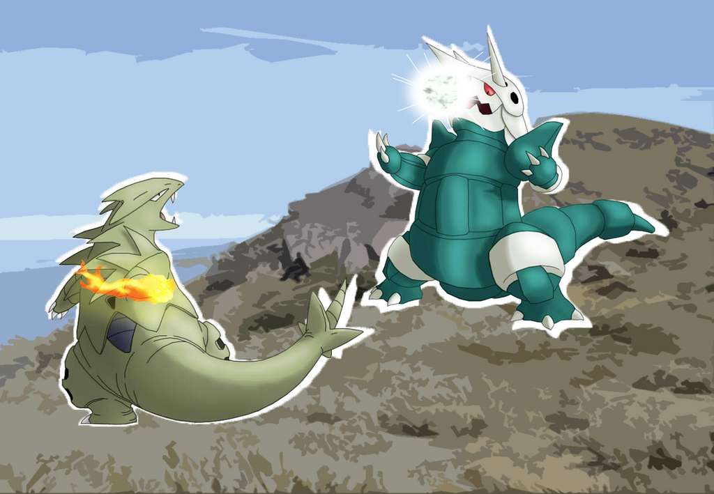 Tyranitar vs Aggron (Pokemon) by TheRockWesker on DeviantArt