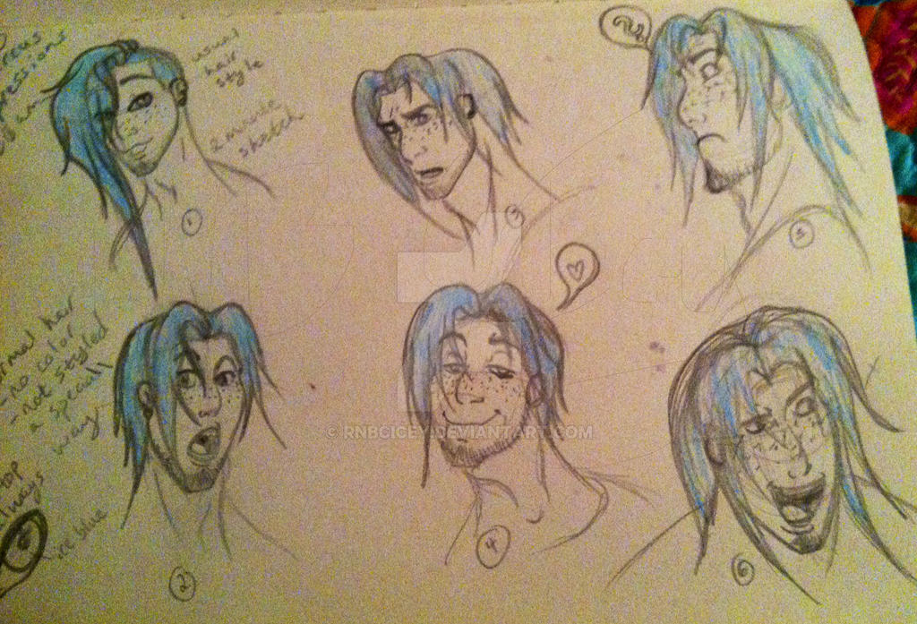 Marcus Sketch Doodles pg1 by RNBCIcey